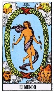 que significa la carta de el mundo en el tarot