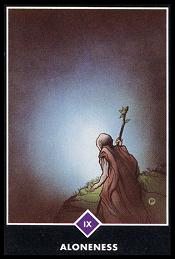 La Soledad carta 9 tarot osho