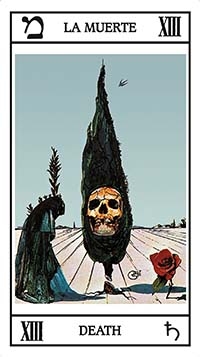 carta tarot dali la muerte
